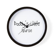 Daddy's Little Nurse Wall Clock
