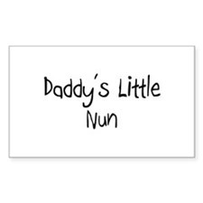 Daddy's Little Nun Rectangle Decal