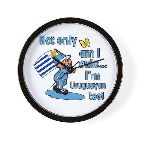 Not only am I cute I'm Uruguayan too! Wall Clock