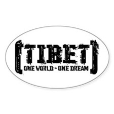 Tibet - One World One Dream Oval Decal
