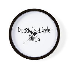 Daddy's Little Ninja Wall Clock