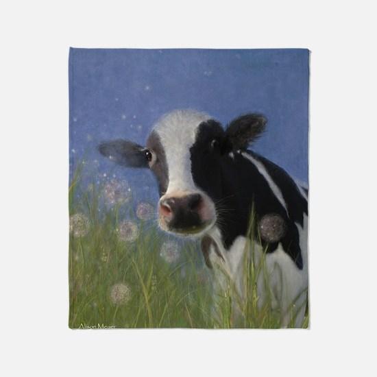 Cute Cow Throw Blanket