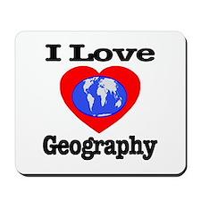 I Love Geography Mousepad