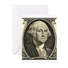 George Washington, $1 Portrait, 6 Greeting Cards