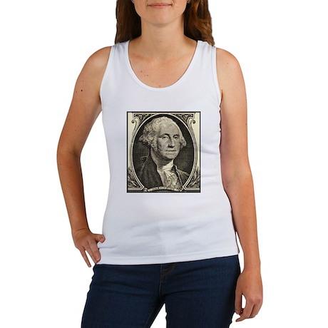 George Washington, $1 Portrait Women's Tank Top