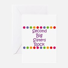 Second Big Sisters Rock Greeting Cards (Pk of 10)