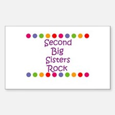 Second Big Sisters Rock Rectangle Decal