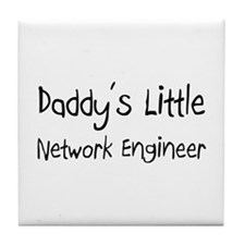 Daddy's Little Network Engineer Tile Coaster