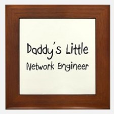 Daddy's Little Network Engineer Framed Tile