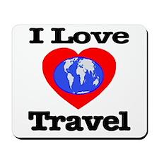 I Love Travel Mousepad