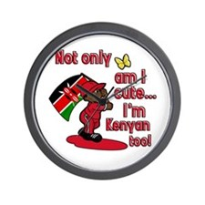 Not only am I cute I'm Kenyan too! Wall Clock
