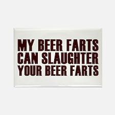 Killer Beer Fart Challenge Rectangle Magnet