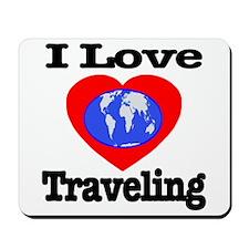 I Love Traveling Mousepad