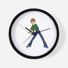 Anime Boy With Sword Wall Clock