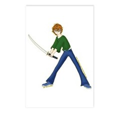Anime Boy With Sword Postcards (Package of 8)