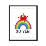GO VEG! Framed Panel Print