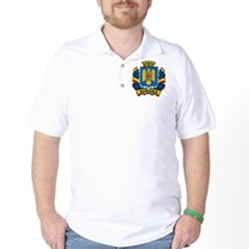 Stylish Romania Crest T-Shirt