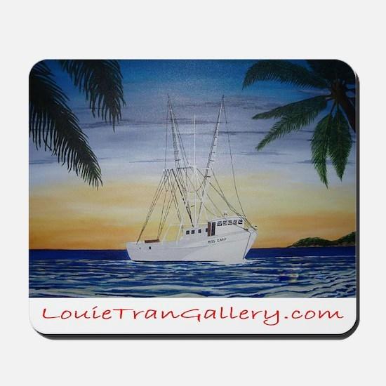 Shrimp Boat in Paradise Mousepad