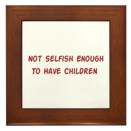 No Breeder Ego Framed Tile