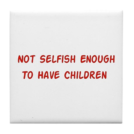 No Breeder Ego Tile Coaster