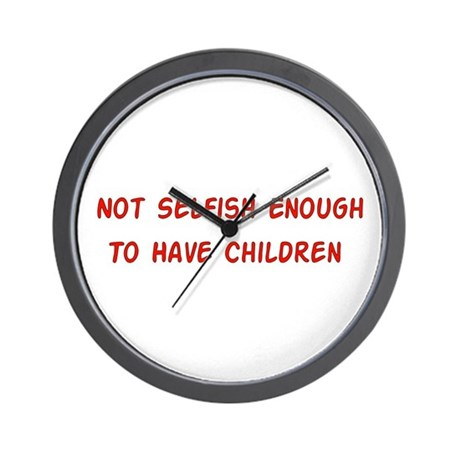 No Breeder Ego Wall Clock