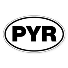 PYR Oval Decal