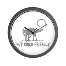 Not Child Friendly Wall Clock
