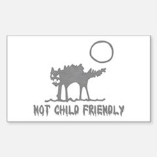 Not Child Friendly Rectangle Decal
