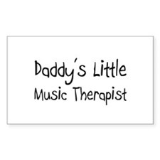 Daddy's Little Music Therapist Rectangle Decal