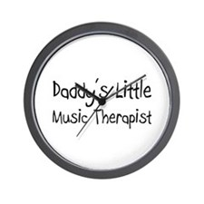 Daddy's Little Music Therapist Wall Clock