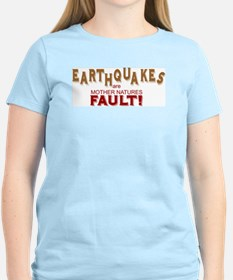 Earthquake Women's Pink T-Shirt
