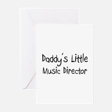 Daddy's Little Music Director Greeting Cards (Pk o