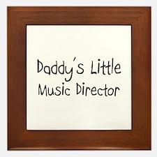 Daddy's Little Music Director Framed Tile