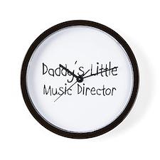 Daddy's Little Music Director Wall Clock