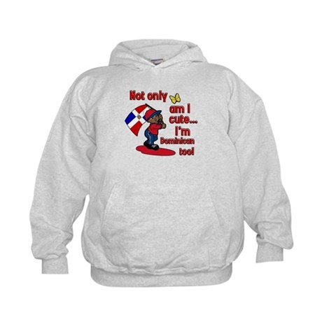 Not only am I cute I'm Dominican too! Kids Hoodie