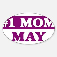 May - Number 1 Mom Oval Decal