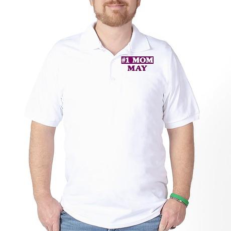 May - Number 1 Mom Golf Shirt