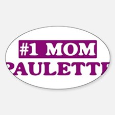 Paulette - Number 1 Mom Oval Decal