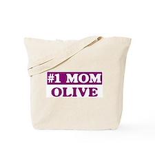Olive - Number 1 Mom Tote Bag