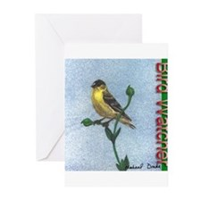 Birdwatcher - Goldfinch Greeting Cards (Package of
