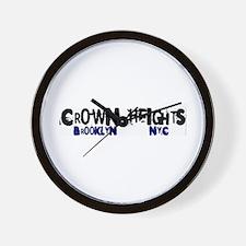 Crown Heights 2 Wall Clock