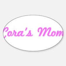 Cora Mom (pink) Oval Decal