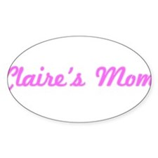 Claire Mom (pink) Oval Decal