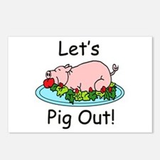 Pig Out Postcards (Package of 8)