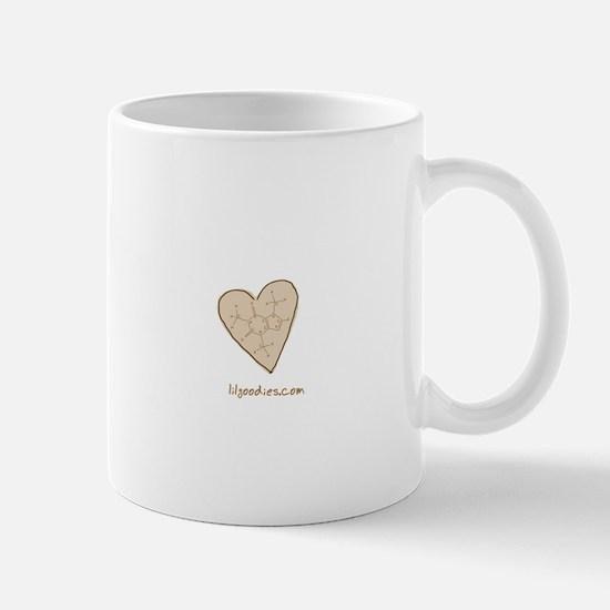 I Love Caffeine (tan) Mug