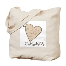 I Love Caffeine (tan) Tote Bag