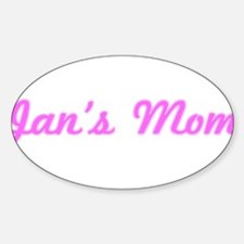 Jan Mom (pink) Oval Decal