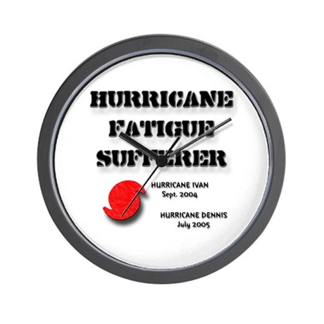 Hurricane Fatigue 2005 Wall Clock