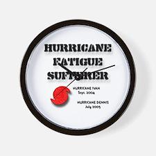Hurricane Fatigue 2005 Wall Clock