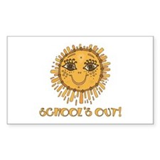 School's Out Sunshine! Rectangle Sticker 50 pk)